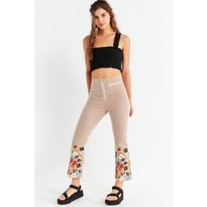 Striped Floral Embroidered Jean (NWT)